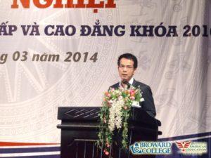 Bài phát biểu của Tiến sĩ Trần Vinh Dự trong lễ tốt nghiệp của VATC năm 2014